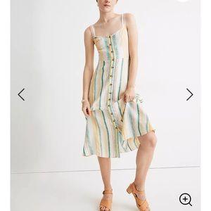 Madewell 100% linen midi dress